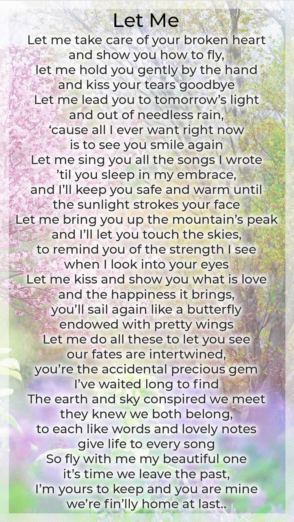 Let Me • a poem by Randy Batiquin